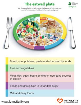The Eat Well Plate - Eating the right balance of foods leads to a healthy dancer